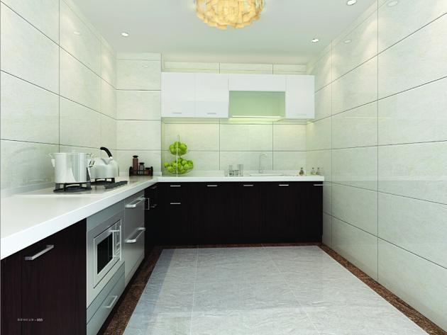 黑色的橱柜配上柚木地板,感觉完全不同,立时显得高贵了不少.